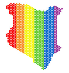 lgbt spectrum dot kenya map vector image