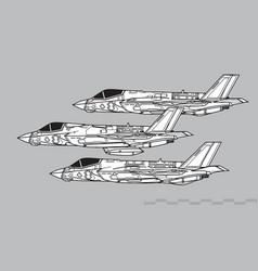 lockheed martin f-35 lightning ii all variants vector image