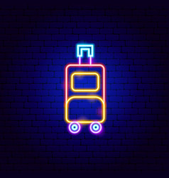 Luggage neon sign vector