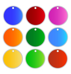 Multi Colors Circle Labels vector image