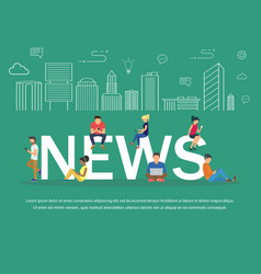 News banner design concept vector
