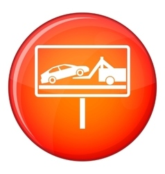 No parking sign icon flat style vector