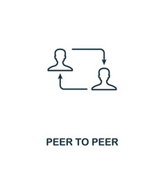 peer to peer outline icon monochrome style design vector image