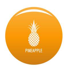 pineapple icon orange vector image