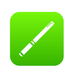 pipe icon green vector image