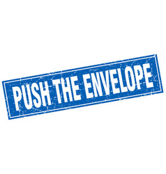 Push the envelope square stamp vector