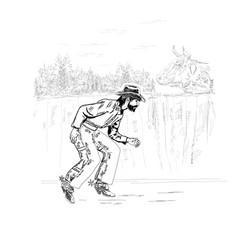 quiet rustic thief vector image
