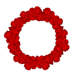red carnation flower wreath vector image