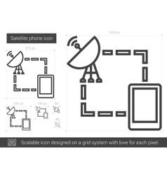 Satellite phone line icon vector
