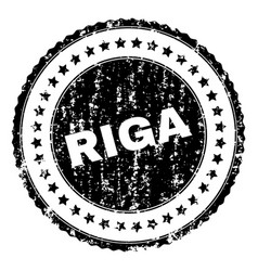 Scratched textured riga stamp seal vector