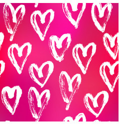 Seamless heart abstract pattern vector