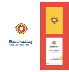 solar system creative logo and business card vector image