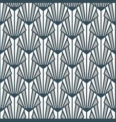 Stained glass art deco seamless pattern gray blue vector