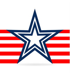 star and red stripes usa icon vector image