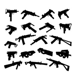 submachine guns vector image