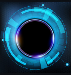 technology futuristic hud interface vector image