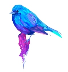 The cute exotic bird head vector image