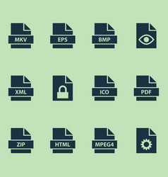 Types icons set collection of protection vector