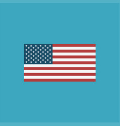 united states flag icon in flat design vector image