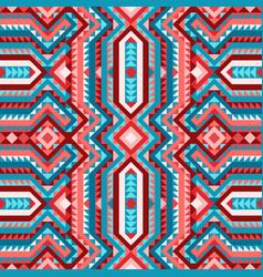 vivid ethnic tribal seamless pattern aztec style vector image