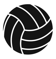 Volleyball ball icon simple style vector