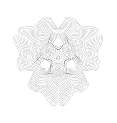 Warped parametric surface shape vector