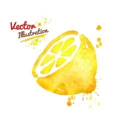 Watercolor lemon vector