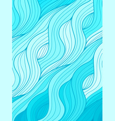 Wave background doodle hand drawn lines vector