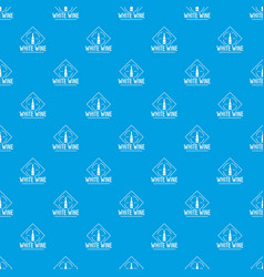 wine pattern seamless blue vector image