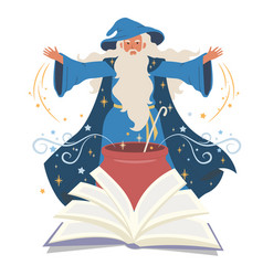 wizard mage warlock sorcerer cooking potion vector image