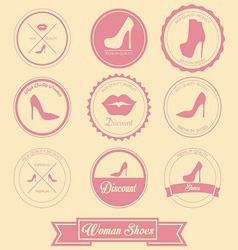 Woman Shoes Label Design vector
