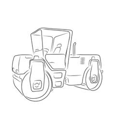 Original road roller vector image vector image