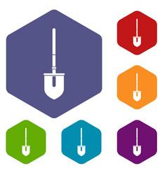 shovel icons set vector image