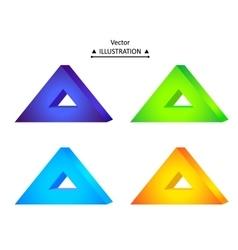Triangular logo set vector image