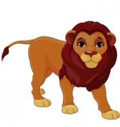 walking lion vector image vector image