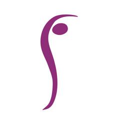 color silhouette woman icon vector image