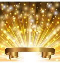 gold ribbon vector image vector image