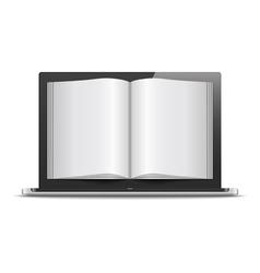 Magazine in Laptop vector image