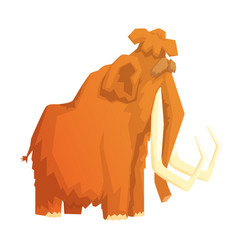 mammoth mammal ice age extinct animal colorful vector image