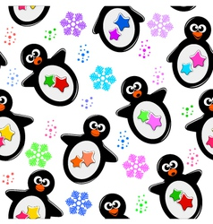 penguin pattern vector image vector image