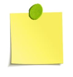 plasticine attached note vector image