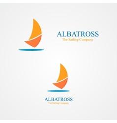 Set of abstract sailboat logo vector image