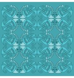 decorative fish pattern vector image vector image