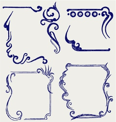 Design element and page decoration vector image vector image