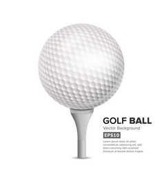 golf ball on white tee realistic vector image vector image