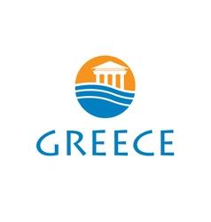 icon greece vector image