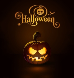 Jack o Lantern Dark Toothy Smile vector image vector image