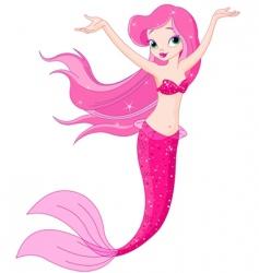 mermaid girl under the sea vector image vector image