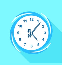 numbered clock icon flat style vector image