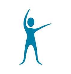 people fitness stretching icon vector image
